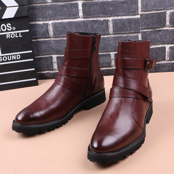 British casual men's leather shoes
