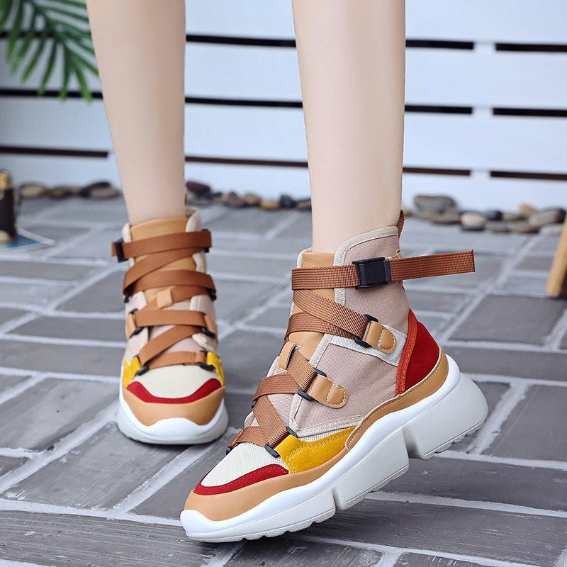 Women's 2019 Comfortable Platform High Top Sneakers