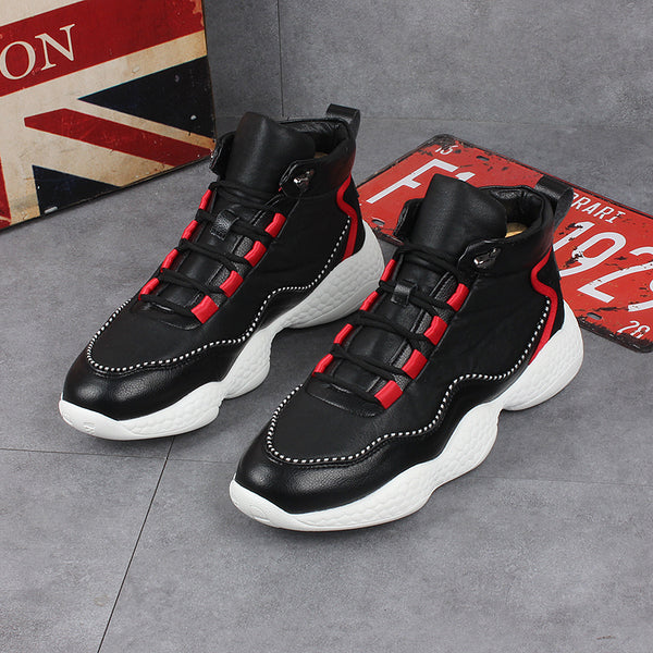Thick-soled versatile high-top shoes