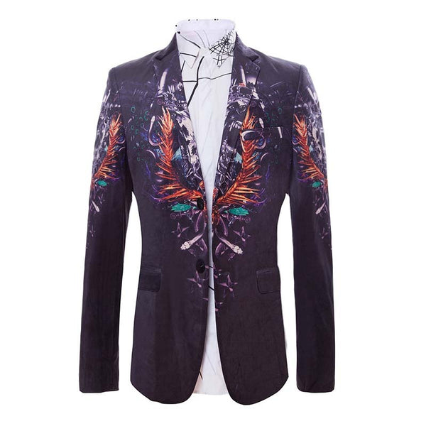 Fashion print men's jacket