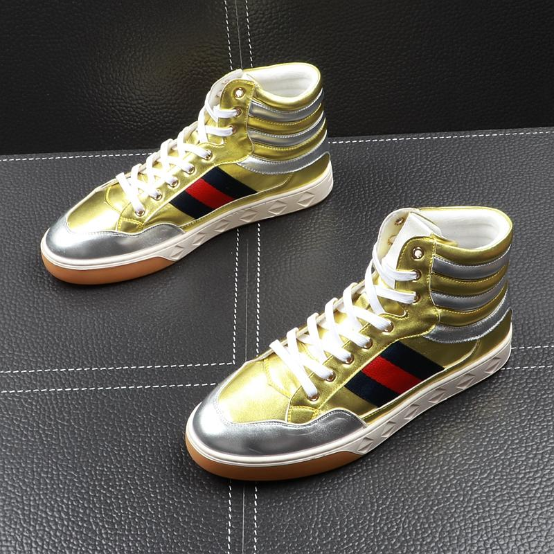Hip hop casual high top shoes