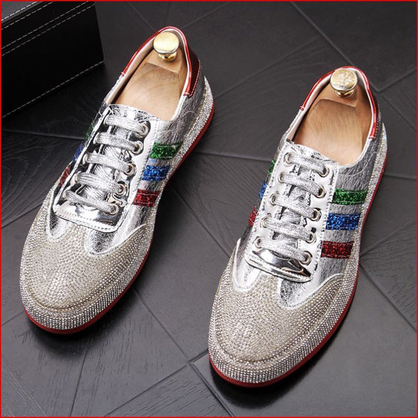 Korean version of the trend shoes breathable hot drilling Lok Fu shoes casual shoes