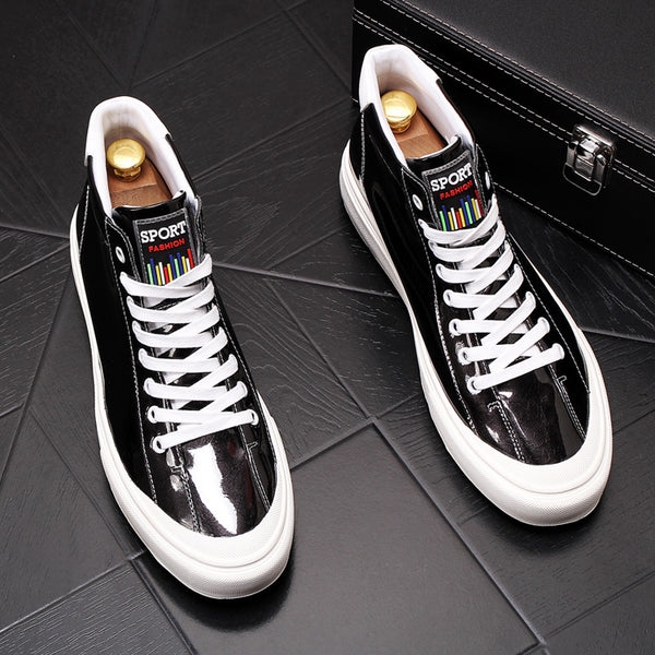 Trendy patent leather casual shoes