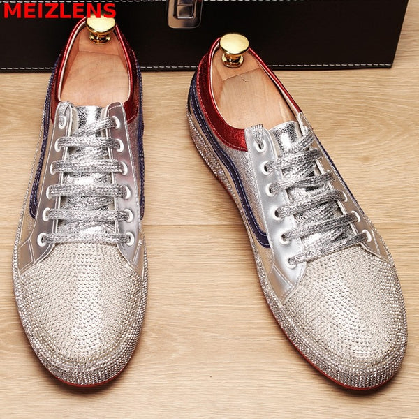 Summer breathable shoes, bright diamonds, youth casual shoes