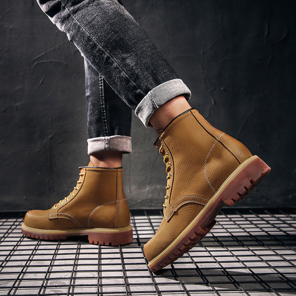 Leather outdoor rhubarb boots