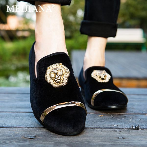 Round suede casual shoes
