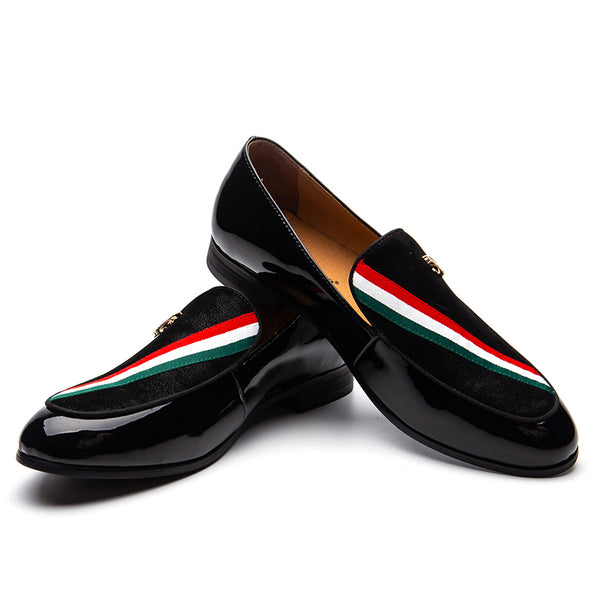 Patent leather bright leather men's shoes