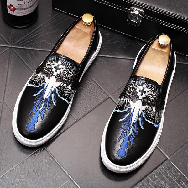 Leather Trendy Loafers-A
