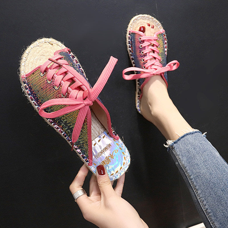 2019 spring new Korean version of the flat-bottom fashion wild student sandals female