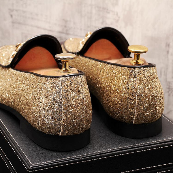 Glitter Trendy Loafers-C