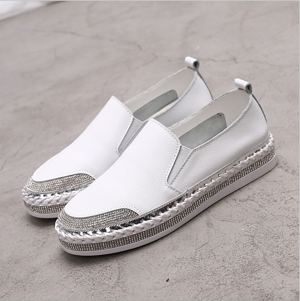Fashion wild thick-bottomed round student casual shoes platform shoes