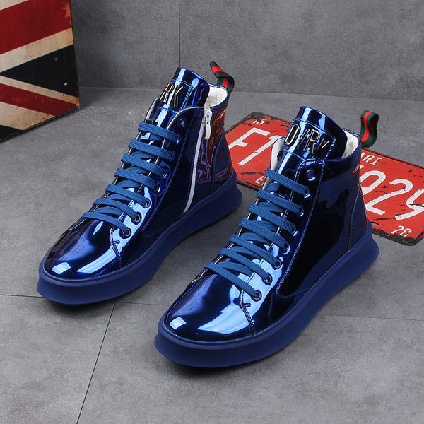 High-top casual men's shoes