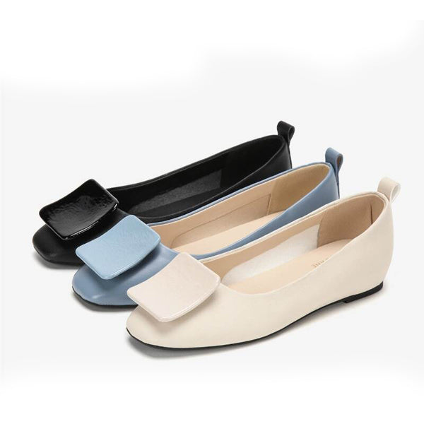 Shallow mouth flat shoes women's shoes