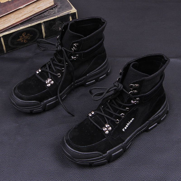 High-top thick-soled tooling shoes
