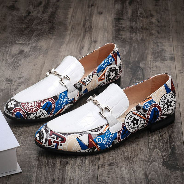 Business white casual shoes
