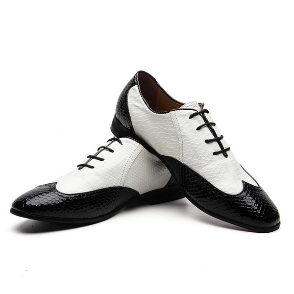 Pointed Oxford men's shoes
