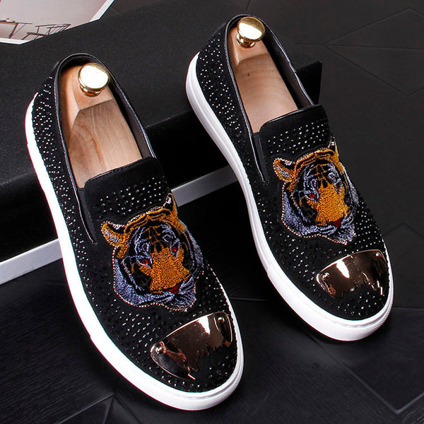Embroidered lazy loafers-2