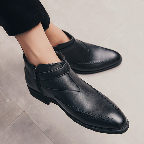 British pointed business casual shoes