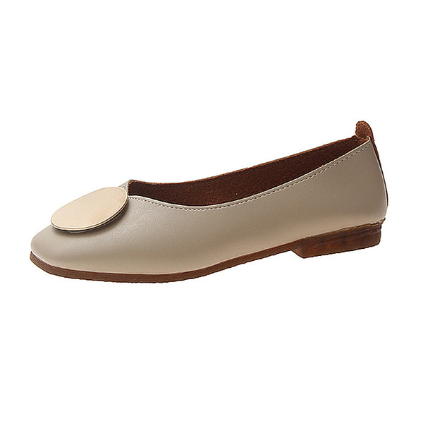 Shallow mouth flat women's shoes