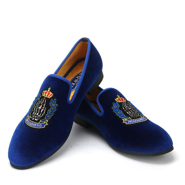 Embroidered lazy loafers-1