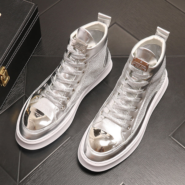 Breathable hollow high-top shoes
