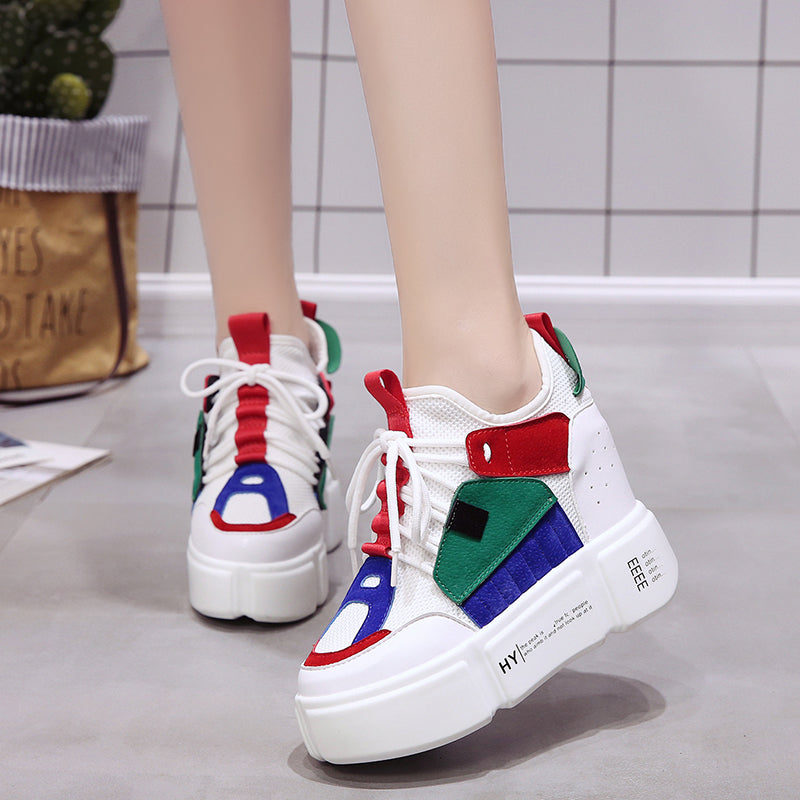 2019 Autumn Women Wedges Shoes High Top Fashion Women Casual Shoes