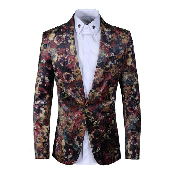 Printed fashion suit