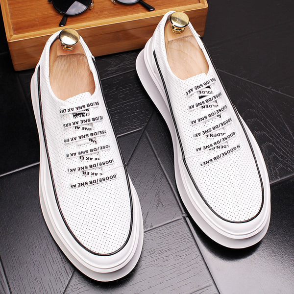 Breathable hole casual shoes