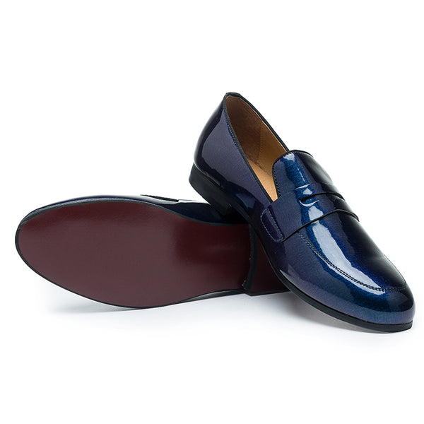 Bright leather British men's shoes