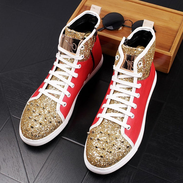 Rivet flat-bottomed casual shoes