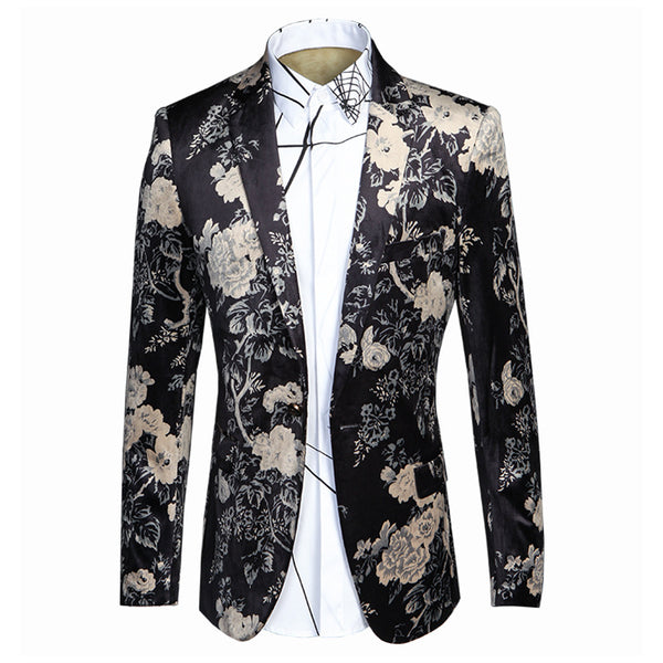 Printed men's suit