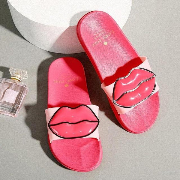Fashion big mouth female slippers