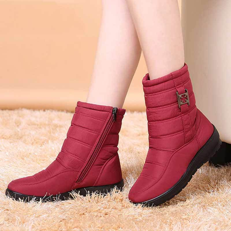 2018 Plus Size Waterproof Snow Boots for Ladies
