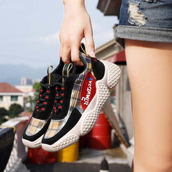 Women Fashion Brand Sneaker Female footware Lattice Cross-tied Girl Shoes