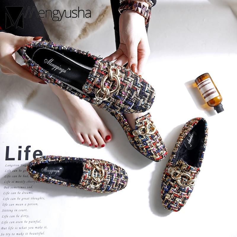 mixed colors plaid flats espadrilles