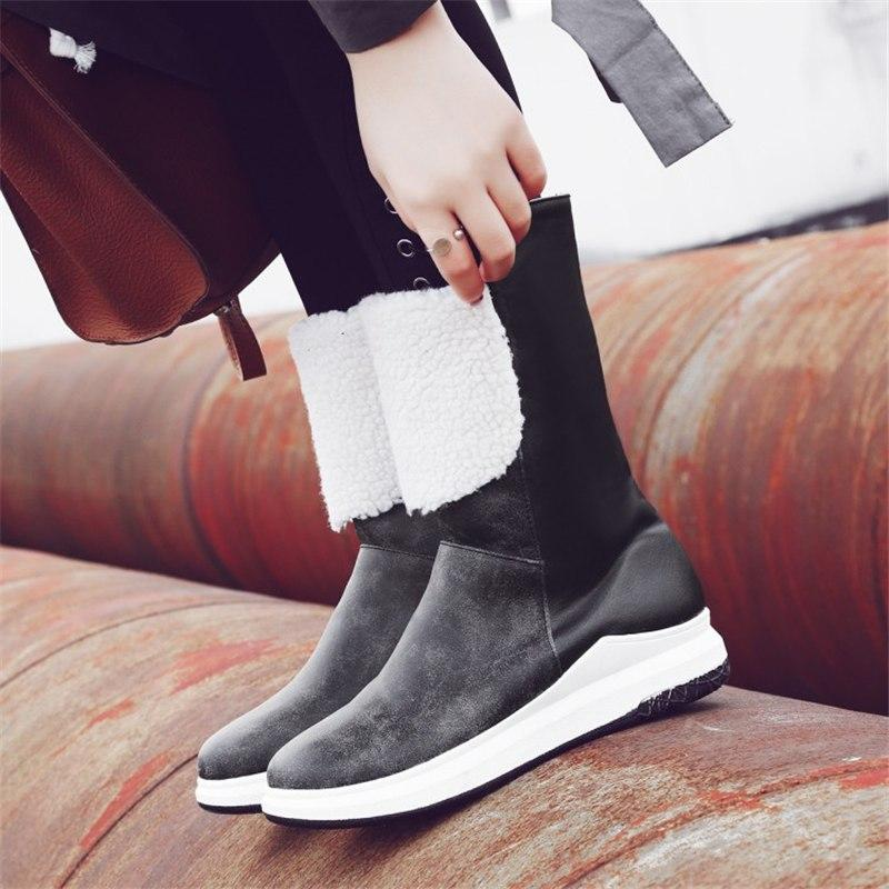 2018 New Mixed Colors Wedge Boots