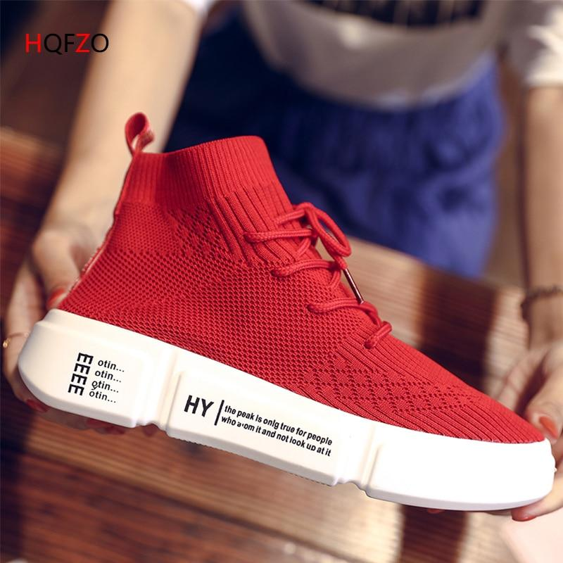 High Shoes Stretch Sock Platform Elastic Sneakers Outdoor Women Shoes