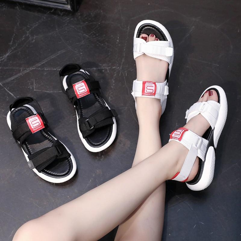 2019 Shallow Flat Hook Loop Casual Sandals