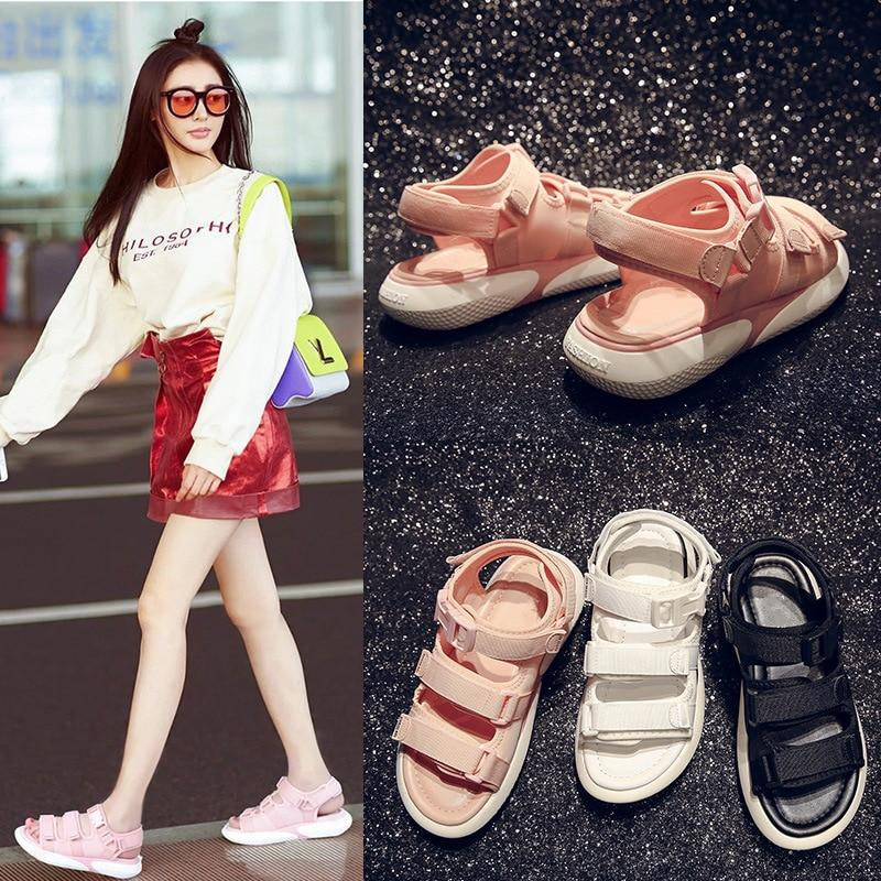 2019 New Platform Shoes Woman Summer Height Increasing Beach Sandals