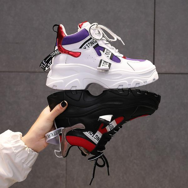 Women's Shoes - 2019 Breathable Canvas Shoes Platform Sneakers