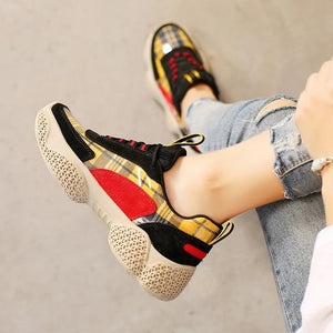 Women's shoes sneakers and  women wedge shoes  luxury shoes women designers  colorblock shoes