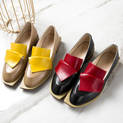 Vintage British Style Wmen Oxford Shoes for Women Handmade Real Leather Shoes