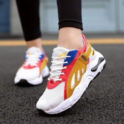 Sneakers Women Casual Shoes Fashion Brand Thick Platform High 5CM Flame Shoes