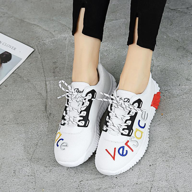 2019 spring and autumn breathable mesh sneakers women's casual shoes