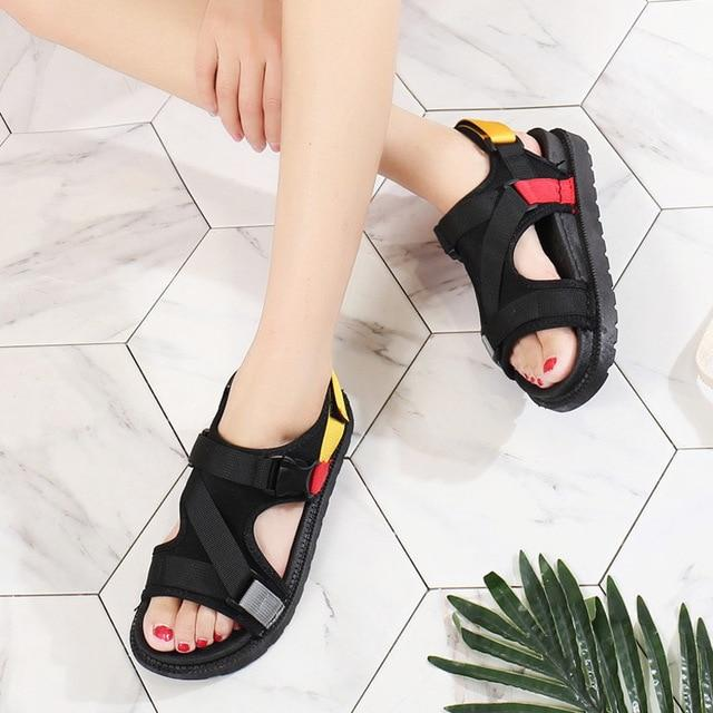 Open Toe Mixed Colors Casual Sandals
