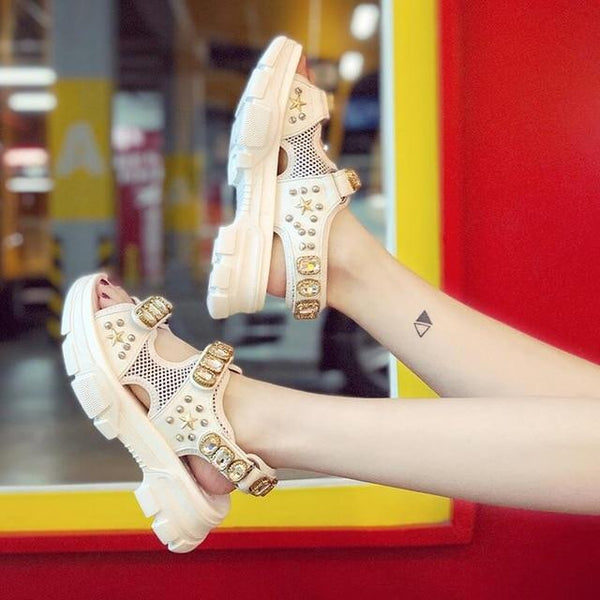 Summer Rhinestone Women Sandals