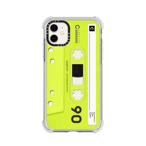 Generic Covers Casetify Impact Case for iPhone 11 Mixtape Neon Yellow