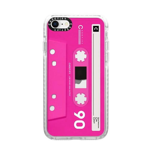 Generic Covers Casetify Impact Case for iPhone SE 2020 Mixtape Neon Pink