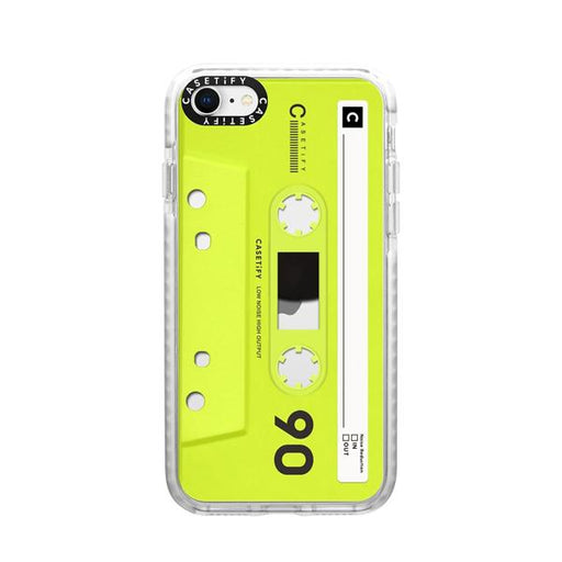 Generic Covers Casetify Impact Case for iPhone SE 2020 Mixtape Neon Yellow
