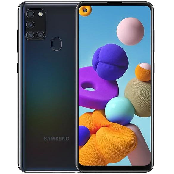 Samsung Phones Galaxy A21S 32GB Black - Certified Refurbished